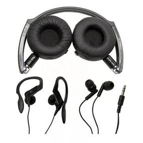 Kit Com 3 Fones Headphone In-ear E Esportivo V12134-raven