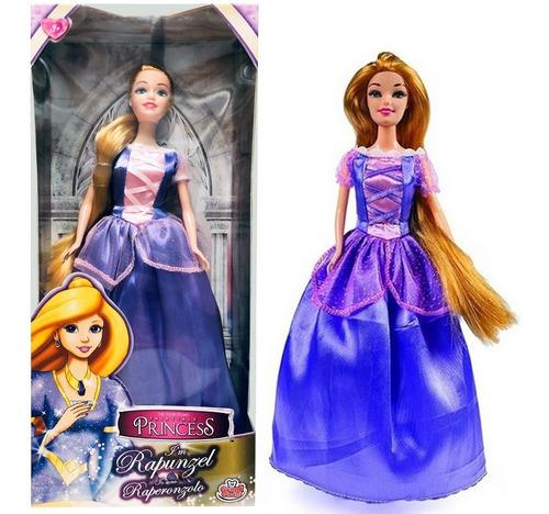 Imagen 1 de 8 de Muñeca Princesa Rapunzel Articulada Original 2902 Bigshop