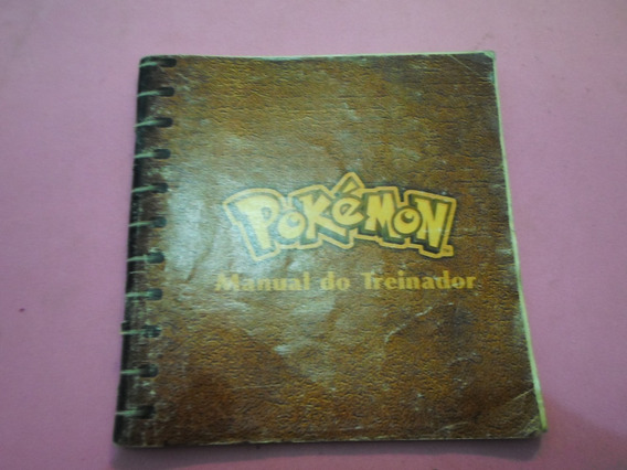 Manual Do Treinador Original Do Pokemon Blue Para Game Boy