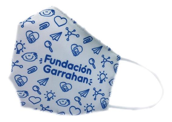 Tapabocas De Tela Reutilizable Blanco - Fundación Garrahan