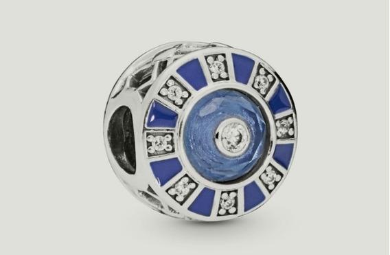 Ojo Mosaico Azul Pandora Auténtico