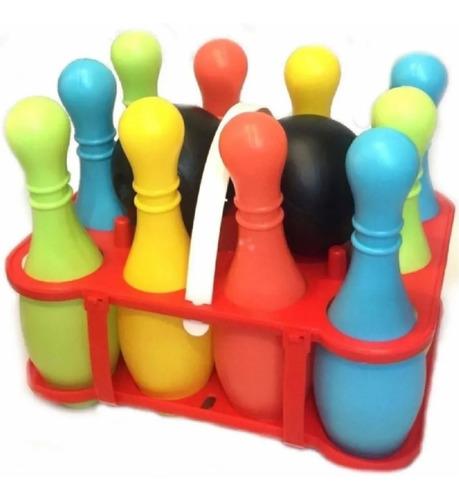 Imagen 1 de 8 de Juego De Bowling Duravit 10 Bolos + 2 Pelotas Playking