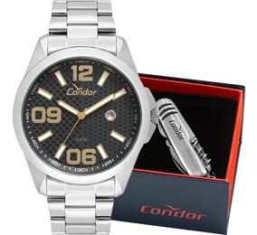 Kit Relógio Condor Masculino Com Canivete Nota Co2115ksy/k3c