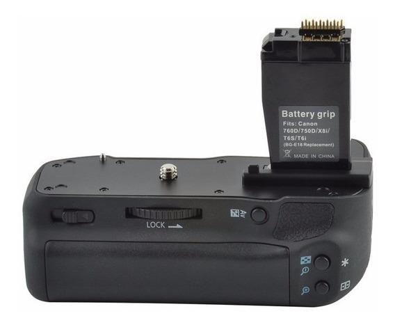 Battery Grip Bg-e18 Para Câmera Canon T6i T6s 760d 750d X8i