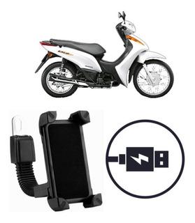 Suporte Carregador Celular Moto Honda C 100 Biz / Biz Ks