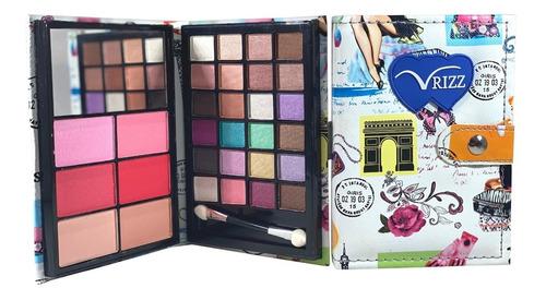 Paleta De Sombras  Rubores Y Contour 30 Colores Con Espejo