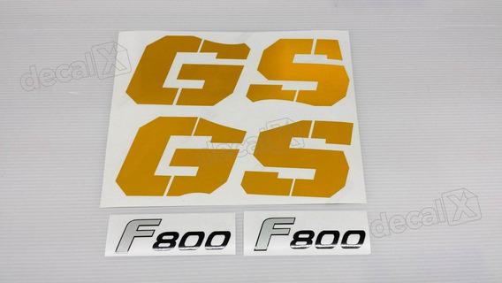 Emblema Adesivo Bmw F800gs 2009 Amarela Par Bwf8001