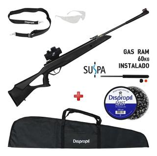 Carabina Gás Ram Rossi Sag R1000 5.5 + Mira Holográfica+ Kit