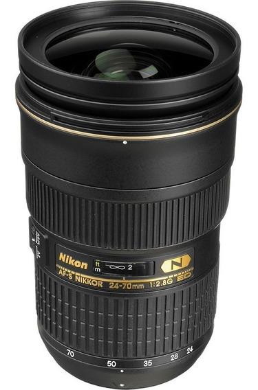 Lente Nikon Af-s 24-70mm F/2.8g Ed Nota Fiscal