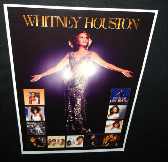 Poster Whitney Houston Single Whitney Houston Discografia
