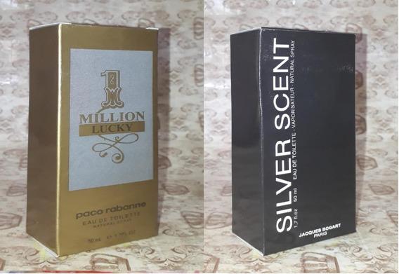 Kit Promoção Perfumes Masc ,1million Lucky / Silver Scent