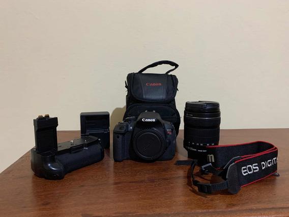 Canon T5i + Grip + Lente 18-135mm