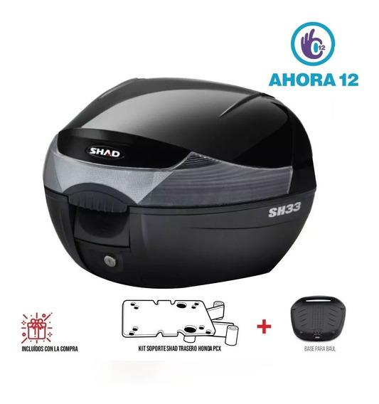 Baul Shad 33 Con Parrilla Trasera Honda Pcx