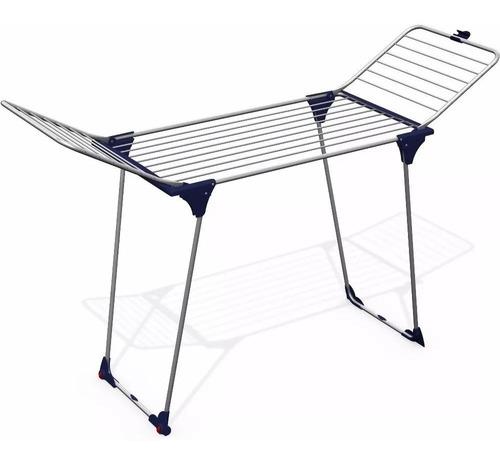 Tendedero Tender Ropa Pie Con Alas Acero Aluminio Marca Gimi Hecho En Italia - Resiste Sol Y Lluvia