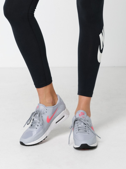 Womens Air Max 90 Ultra 2.0 Grey & Bright Pink