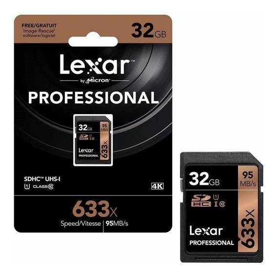 Cartão De Memória Lexar Professional 633x Sdhc 32gb 95mbs