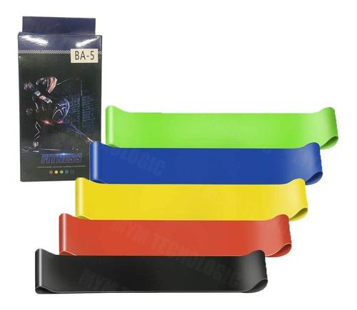 Bandas Elásticas Ejercicio Fitness Ba-5 Paquete De 5