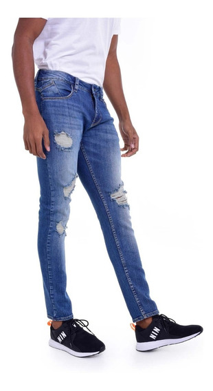 Jean Skinny Azul Medio Quest