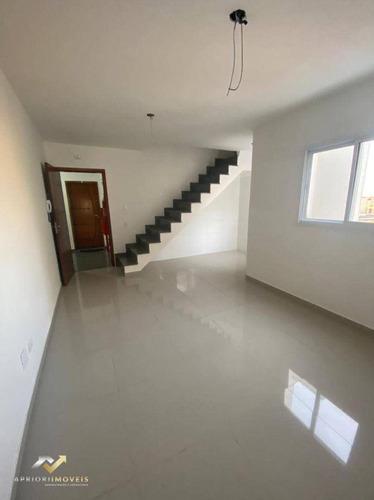 Cobertura À Venda, 150 M² Por R$ 495.000,00 - Vila Humaitá - Santo André/sp - Co0147