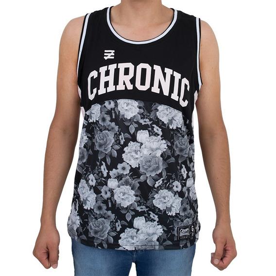 Camisetas Chronic Flores Preta