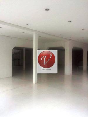 Salão Para Alugar, 450 M² Por R$ 11.300/mês - Jardim - Santo André/sp - Sl0210