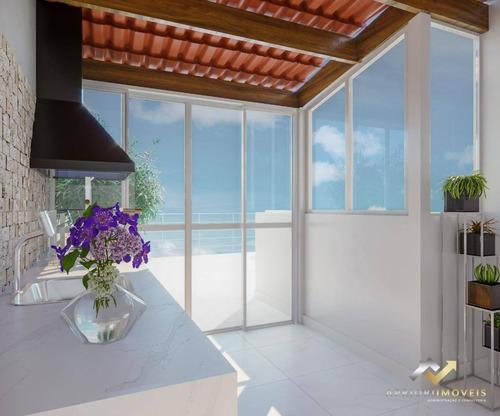 Cobertura Com 2 Dormitórios À Venda, 79 M² Por R$ 379.000,00 - Campestre - Santo André/sp - Co0814