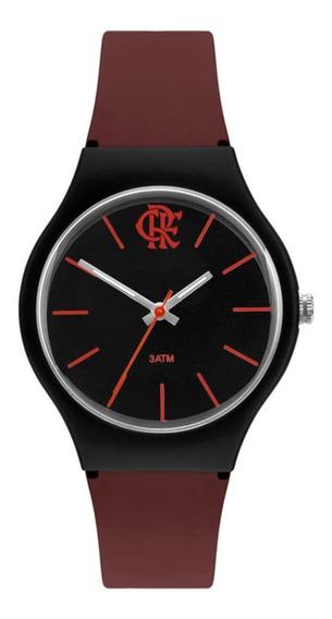 Relógio Technos Flamengo Feminino Preto E Bordô