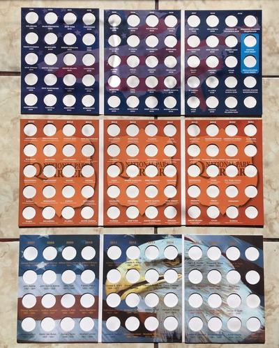 Imagen 1 de 2 de Album Para Coleccionar Las Monedas De Usa 25 Centavos 50 Cen