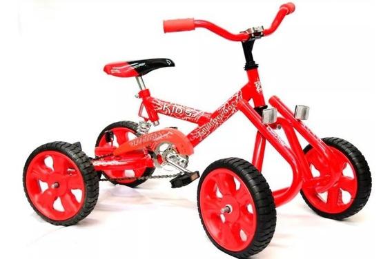 Cuatriciclo A Pedal Kids Con Suspencion Rodado 12 Karting