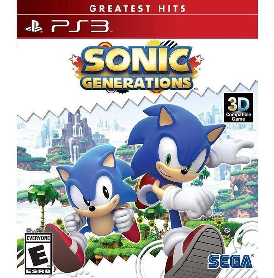 Sonic Generations Ps3 Mídia Física Lacrado