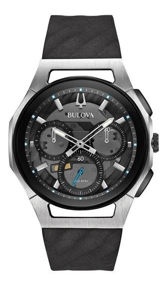Reloj Bulova Cronógrafo Curv 98a161 Para Caballero E-watch