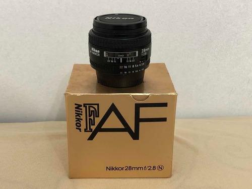Lente Nikon 28mm 2.8 N Na Caixa -não D, 2.8d, Af-d
