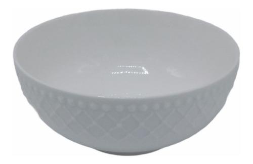 Bowl Compotera Cuenco Ceramica Blanco 15cm Encadenado Oferta