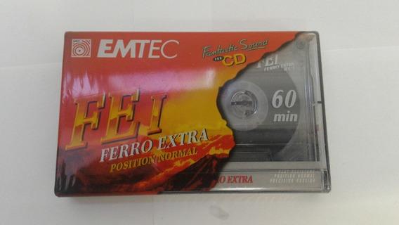 1 Fita Cassete K7 Emtec Fe-i 60min - Virgem Lacrada