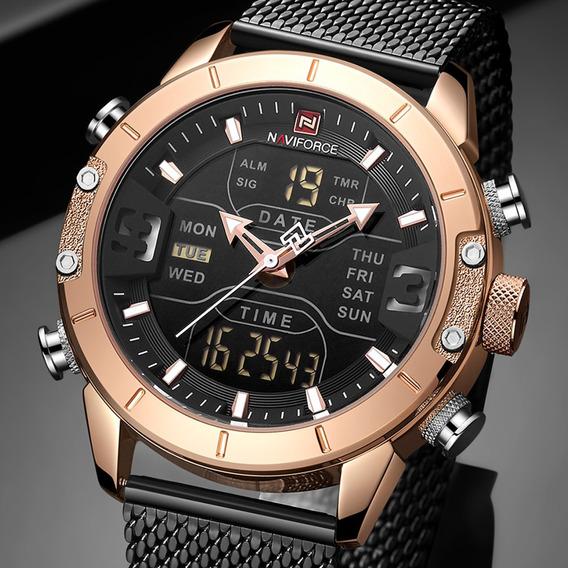 Relógio Eletrônico Esportivo Masculino De Ouro