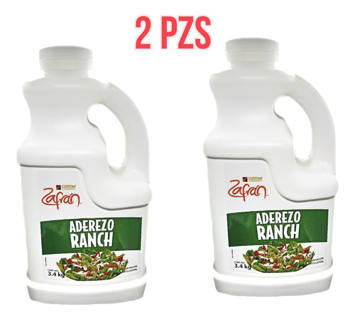 Duo Pack Aderezo Ranch Zafran 3.4kg ( 2 Pzs )