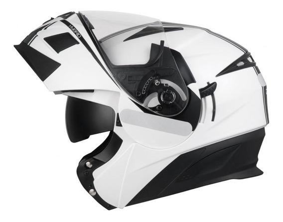 Capacete Zeus 3020 Ae1 Branco Preto - Moto Br