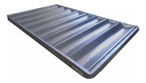 Imagen 1 de 2 de Baguetera 70x45 De Aluminio Marco Reforzado Con Ondas