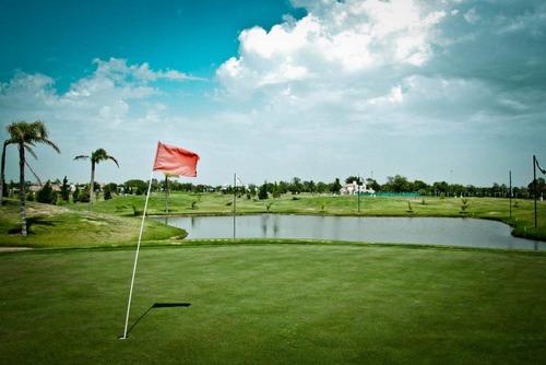Ultimo! Country Cañuelas Lote Central Fondo Norte Y Golf!!