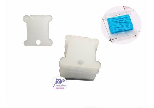 Huesos Plasticos Pack X20 Unid Organizar Madejas Hilos Cinta