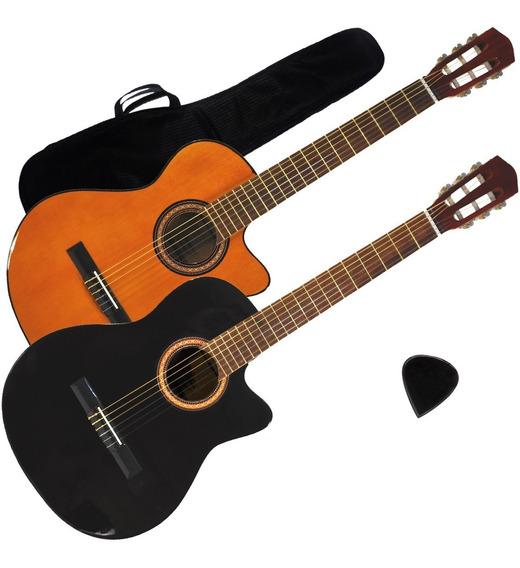 Guitarra Electroacustica Criolla Satinada 1/2 Media Caja Gta