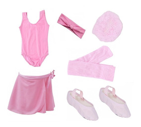 Roupa Ballet Bailarina Kit Uniforme Aula Infantil Baby Class