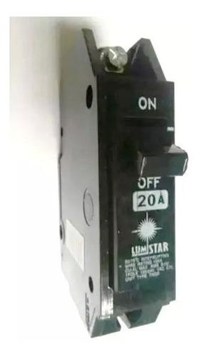 Breaker Lumistar 1 Polo X 30 Amperios Superficial Sobreponer