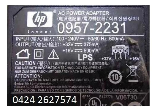 Adaptador Ac Power Hp 0957-2231 Impresoras
