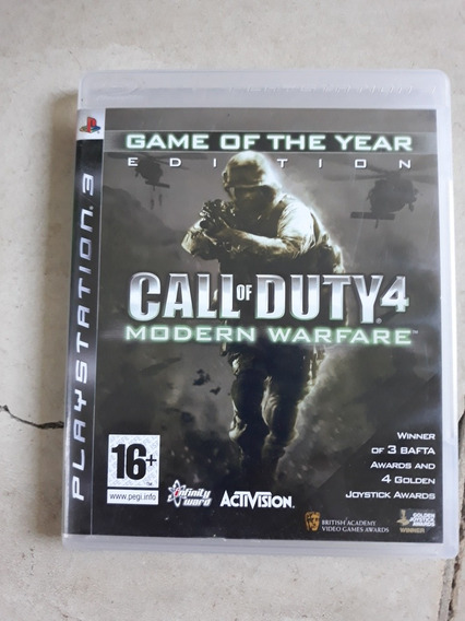 Jogo Ps3 Call Of Duty 4 Modern Warfare Original Com Manual