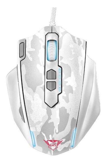 Mouse Pc Gamer Trust Gxt 155 11 Botones Luz Pesas 4000 Dpi