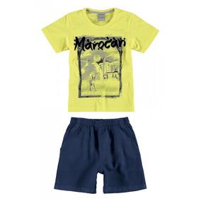 2a8bd9ac05 Conjunto Infantil Masculino Amarelo Marocan Carinhoso