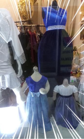 Vestido De Fiesta Para Niña Talle 14 Años Color Azul Nuevo.