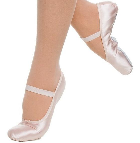 Sapatilha Ballet Meia Ponta Cetim (infantil E Adulto)