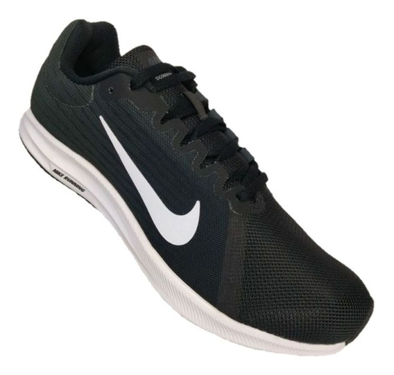 Tênis Nike Downshifter 8 Black White Anthracite Leve Casual